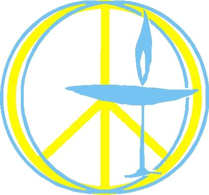 "peace sign chalice by Don ""Orfeo"" Rechtman, Northwest UU of Atlanta"